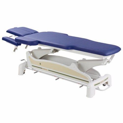Elektrische Massageliege für Physiotherapie-Praxis mit zurückversetzten Seiten und peripherer Fußbedienung Ecopostural C3564M48