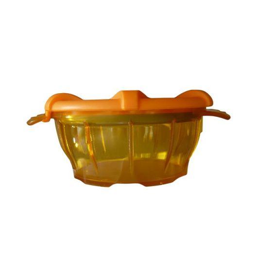 Polycarbonat-Schale mit Deckel Orange thermodynamischen Holtex