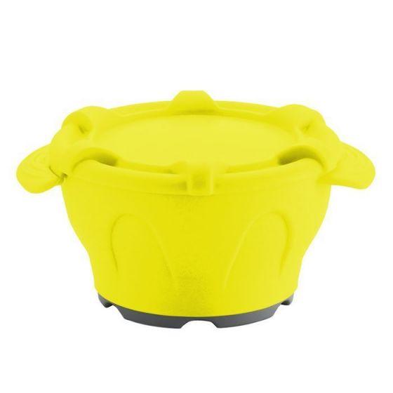 Thermodynamische Schale mit Deckel gelb Holtex