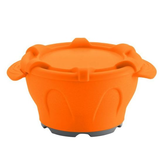Thermodynamische Schüssel mit orange Deckel Holtex