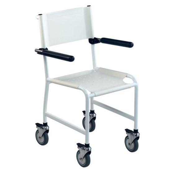 Revato Invacare Duschstuhl mit weichem Sitz, weißen