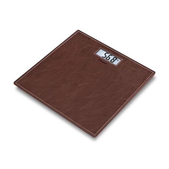 Pèse-personne en verre Leather Sensation Beurer GS 37