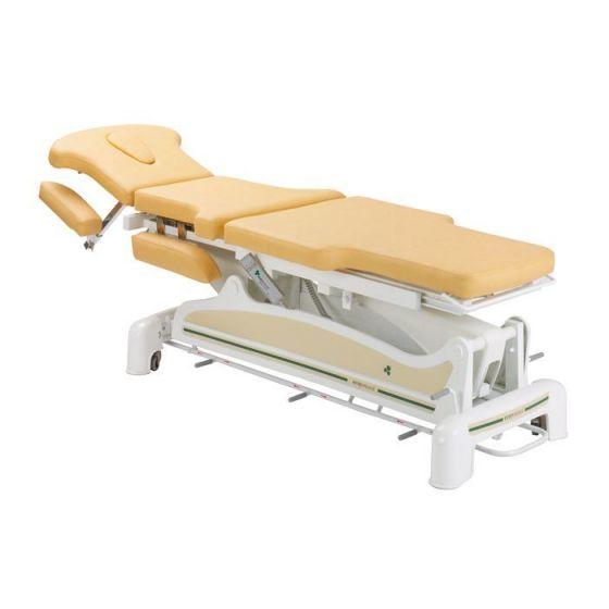 Elektrische Massageliege 3-teilig mit zurückversetzten Seiten Ecopostural C3561M57